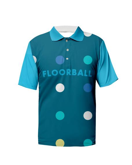 Sublimation Polo Tee (Floorball) Unisex Image