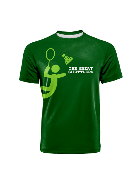 Sublimation Round Neck Tee (Badminton) Unisex Image