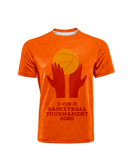 Sublimation Round Neck Tee (Basketball) Men