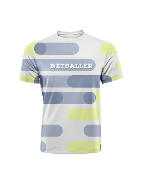 Sublimation Round Neck Tee (Netball) Men