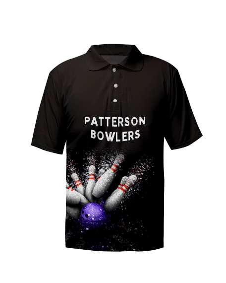 Sublimation Polo Tee (Bowling) Unisex Image