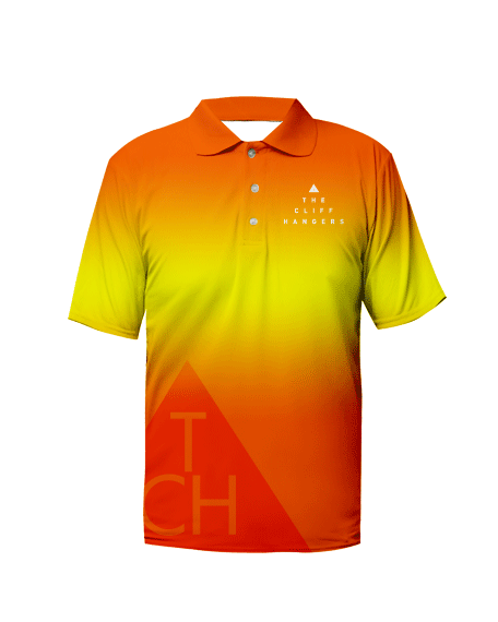 Sublimation Polo Tee (Rock Climbing) Men