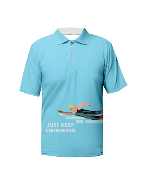 Sublimation Polo Tee (Swimming) Men