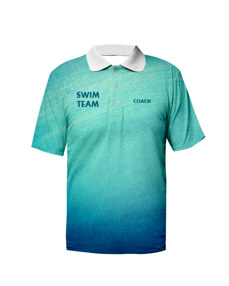 Sublimation Polo Tee (Swimming) Unisex Image