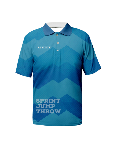 Sublimation Polo Tee (Track and Field) Unisex Image