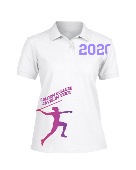 Sublimation Polo Tee (Track and Field) Women