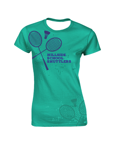 Sublimation Round Neck Tee (Badminton) Women
