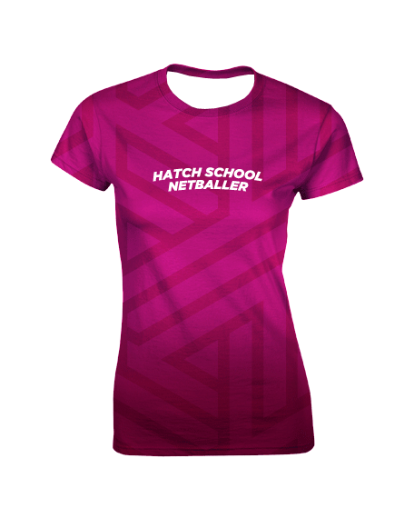 Sublimation Round Neck Tee (Netball) Women