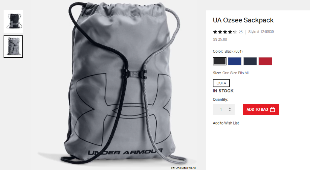 8ea77ec509 How To Recognise A Fake Under Armour Ozsee Sackpack