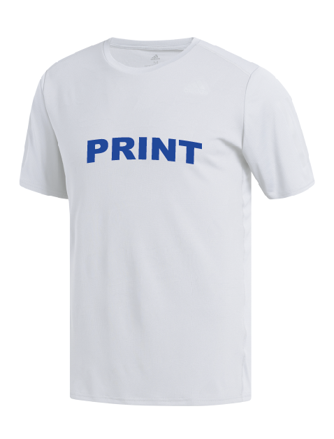 Silk screen printing on adidas tee shirt