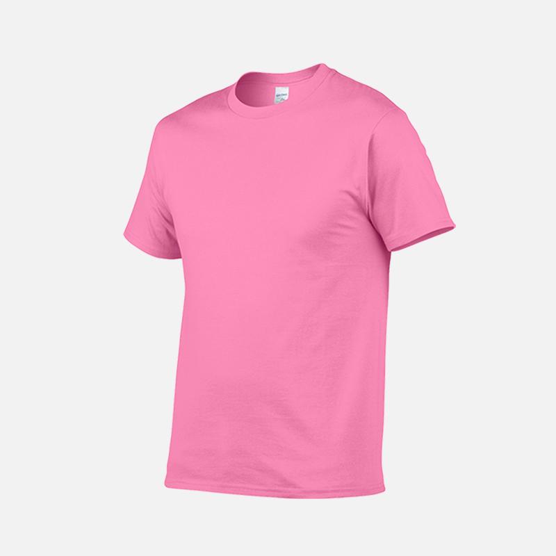 gildan-tee-round-neck-tshirt-76000-safety-pink-263C