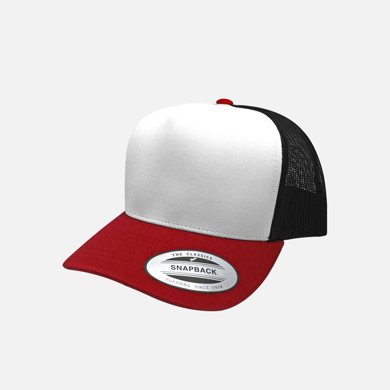 yupoong-flexfit-6005T-red-white-black-trucker-cap