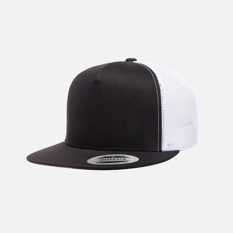 yupoong-flexfit-6006T-black-white-front-cap