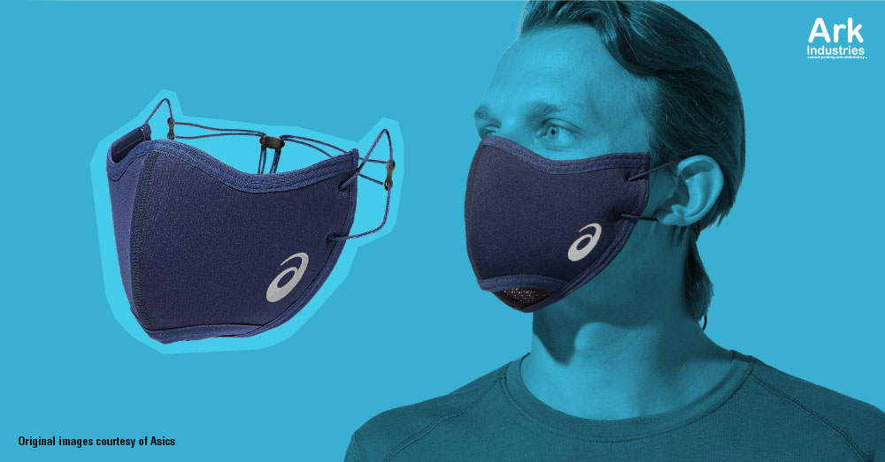 asics runners face cover face mask